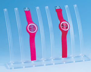 Place up to 8 Watches Transparent Plastic Watch Stand pictures & photos