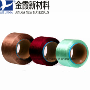 FDY Dope Dyed 400d/192f Filament Polyester Yarn pictures & photos