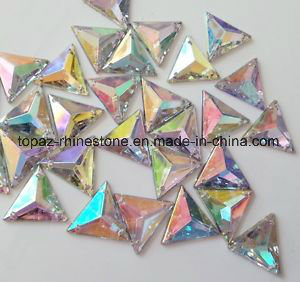 Wholesale Triangle Crystal Rhinestone Flat Back Sew on Crystal (SW-Triangle 16/22mm) pictures & photos