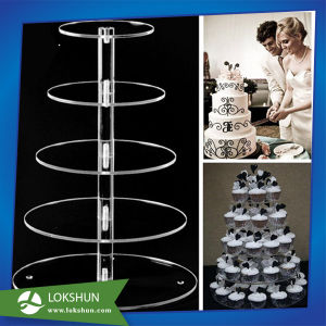 Hot Selling Acrylic Cake Display Stand for Wedding Party, China Acrylic Display Manufacturer pictures & photos