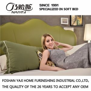 OEM Bedroom Furniture Fashion Design Leather Bed G7006 pictures & photos