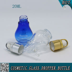 20ml Clear Glass Cosmetic Essential Oil Dropper Bottle pictures & photos