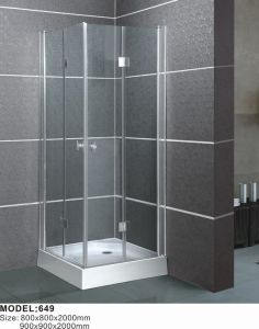 Tempered Glass with En12150/Csi/3c Certification Simple Shower Enclosure