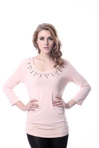 Women′s Knit Lycra Latest Blouse Design 2016 pictures & photos