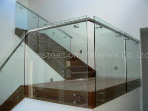 Frameless Tempered Glass Staircase Railing with Standoff pictures & photos