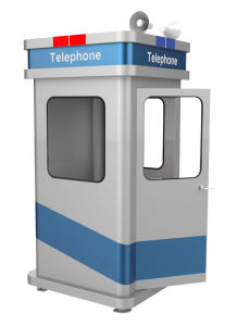 Weatherproof Phone Booth, Roadside Rugged Kiosk, Acoustic Telephone Hood pictures & photos