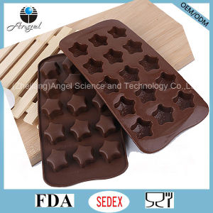 Hot Sale 15-Cavity Star Silicone Ice Cube Tray for Pudding Si28 pictures & photos