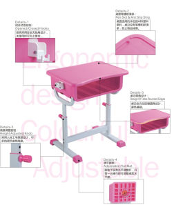 New Style Plastic School Student Desk for Children Classroom pictures & photos