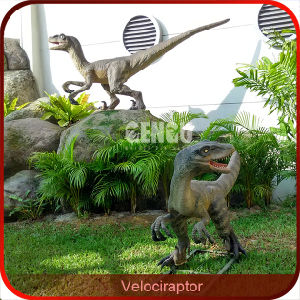 Outdoor Display Velociraptor Life Size Dinosaur Sculpture pictures & photos