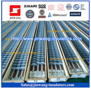 69kv-500kv High Voltage Long Rod Composite Suspension Insulators pictures & photos