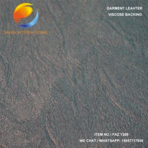Garment PU Leather in Viscose Backing pictures & photos