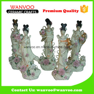 5 PCS/Set Chinese Ceramic Fairy Statue with The Flower pictures & photos