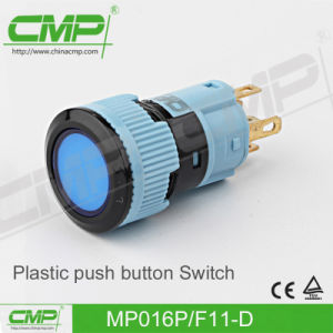 16mm Waterproof Plastic Push Button Switch (TUV CE) pictures & photos