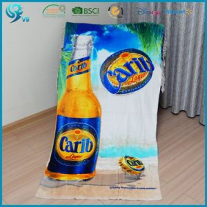 China Factory Promotion 100% Cotton Velour Printed Logo Beach Towel pictures & photos