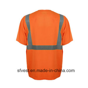 En ISO 20471 Breathable Comfort Reflective Safety Polo T Shirt Wholesale pictures & photos