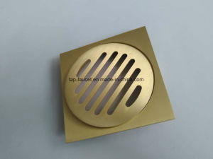Brushed Gold Taps and Hardware Floor Drain for Luxury Construction pictures & photos