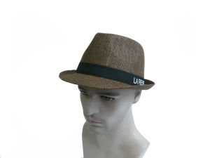 Pure Color Men Straw Hat with Ribbon Letters pictures & photos