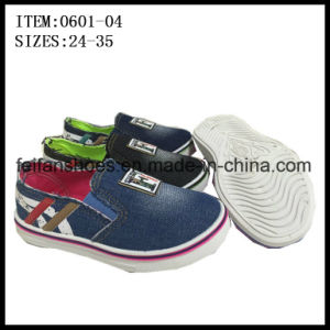 Children Slip-on Canvas Shoes Casual Sneaker Shoes Wholesale (0601-04) pictures & photos