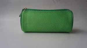 Cosmetic Bag in Green Color Mesh