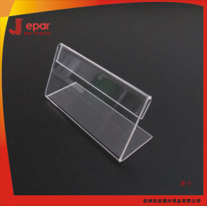 Je-1 Supermarket Clear Acrylic Flexible Price Label Holder pictures & photos