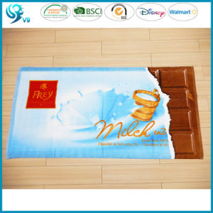 Colorful Printed Custom Design Rectangle Warm Soft Velour Towel pictures & photos