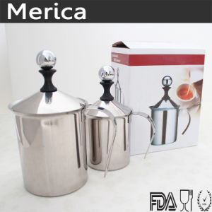 Stainless Steel 450ml Double Mesh Coffee Milk Frother pictures & photos