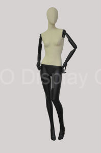 Classic Linen Wrapped Female Mannequin with Wooden Arms pictures & photos