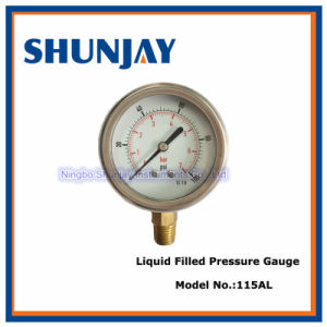 63mm Liquid Filled High Quality Pressure Gauge, Pressure Meter pictures & photos