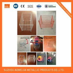 Stackable Metal Supermarket Display Cage with Castors pictures & photos
