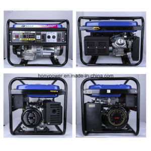 Electric Start with Battery 6.5kw Portable Gasoline Generator pictures & photos