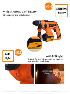 Kd65 Samsung Battery Cordless Rotary Hammer/ Cordless Hammer Drill pictures & photos