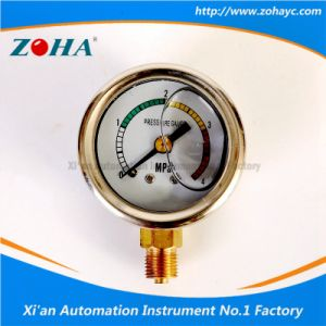 Oil Filled Anti - Vibration Pressure Gauge with Four Color Dial pictures & photos