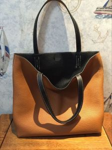 C37/89 Shopping Bags Clemence Togo Leather Shopping Bags 42cm