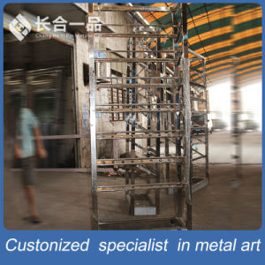 Hot Sale Customized Stainless Steel Wine Display Rack pictures & photos