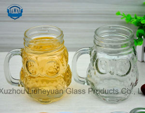 450ml Creative Transparent Lead-Free, Fox Shaped Cup, Juice Cup, Cup of Tea, Milk Cup, Glass Beer with a Handle pictures & photos