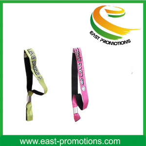 Fashion Woven Fabric Wristband with Sublimation Logo pictures & photos