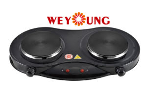 Double Solid Hotplate Electric Cooker Ce RoHS Approval Indoor
