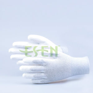 High Quality ESD Palm PU Coated Gloves, Palm Fit Gloves with Carbon Fiber pictures & photos