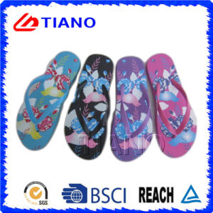 Colorful Printing PE Outdoor Beach Flip Flop (TNK35971/2/3/4/5) pictures & photos