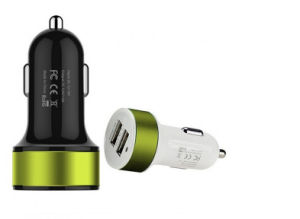 in Car Charger 2.1A Dual USB Port Car Charger with RoHS Ce FCC, Dual Port Car Charger, Universal USB Car Charger pictures & photos