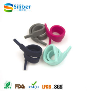 Shoelace Style Eco-Friendly Promotional Portable Silicone Cable Binding Tie pictures & photos
