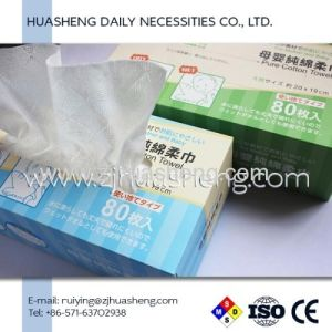 Disposable Cotton Facial Tissue Dry Wipes for Female & Babies Skin Cleaning pictures & photos
