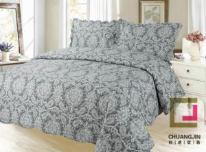 Printed Quilted Pigment Printing Microfiber Quilt/Bedspread/Bedding Set pictures & photos