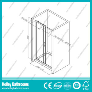Excellent Rectangle Shower Sliding Cabin with Aluminium Alloy Frame (SE909C) pictures & photos