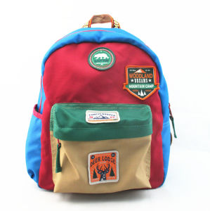 Contrast Colour Polyester Back to School Backpack pictures & photos