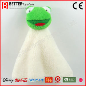 En71 Super Soft Stuffed Frog Plush Toy Baby Comforter pictures & photos