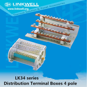 High Quality PA66 Flame Retarding Heat Resistant 4 Pole Power Distribution Boxes 660V (LK34) pictures & photos