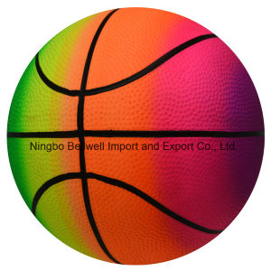 PVC Rainbow Beach Balls Basketball for Kids pictures & photos