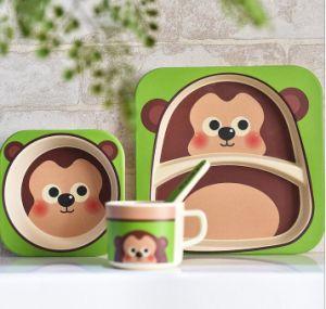 BPA Free Eco Bamboo Fiber Kids Dinner Set (YK-KS0012) pictures & photos