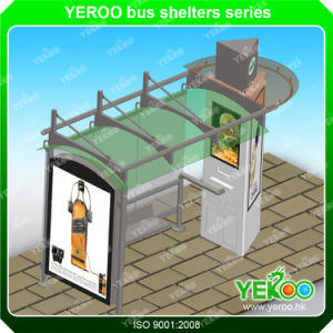 Firm Structure Metal Bus Stop Shelter-Bus Shelter Design pictures & photos